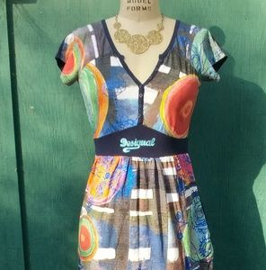Desigual multi-colored printed dress